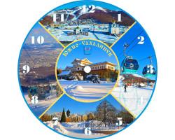Часы-магнит D 10 Южно-Сахалинск зима 5 к