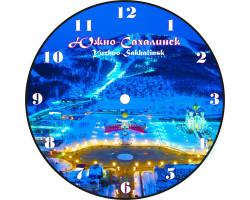 Часы-магнит D 10 Южно-Сахалинск ПП зима