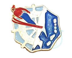 Значок Сахалин Лыжник