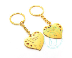 Брелок Сердце Сахалин-Курилы  золото глянец