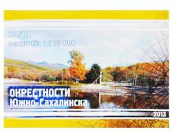 Карта окрестности г.Южно-Сахалинск 2013