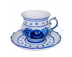 Чайная пара Голубка гжель