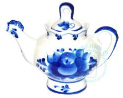 Чайник Подарочный малый гжель