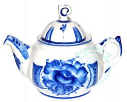 Чайник Пышка гжель