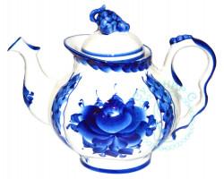 Чайник Голубая рапсодия гжель