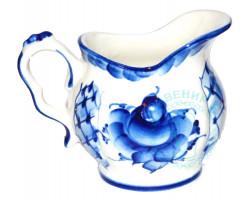 Молочник Голубая рапсодия гжель