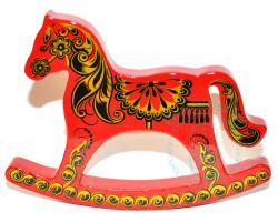 Лошадка-качалка Хохлома 12х16х2 кр.