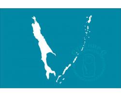 Флаг Сахалинской области 24х36 под кронштейн