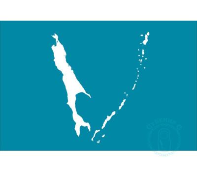 Флаг Сахалинской области 12х18