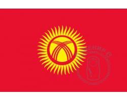 Флаг Киргизской республики 12х18