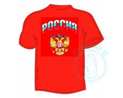Футболка женская Россия