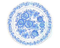 Панно Хохлома голубая D 27