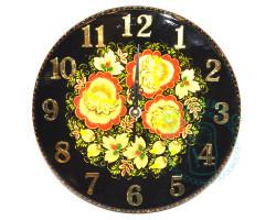 Часы Хохлома D 25 черные
