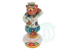 Медведь танцующий майолика