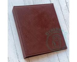 Папка-переплет под листы ОПТИМА для монет и банкнот (БЕЗ листов) КОЖ.ЗАМ.