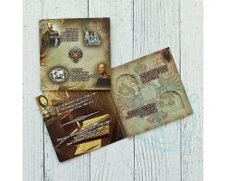 Альбом-планшет для 5 рублевых монет РГО и РИО на 2 монеты