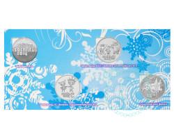 Набор монет Сочи 2014 - 4 монеты + АЛЬБОМ