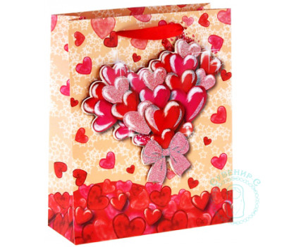 Пакет Сердечки L