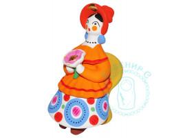 Барыня на кресле с цветком 1 Дымка