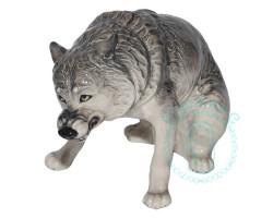 Волк фарфор