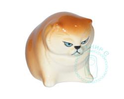 Кот сердитый фарфор