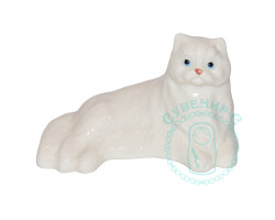 Кот персидский белый фарфор