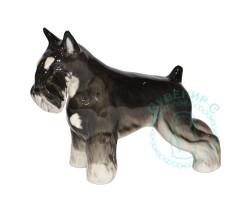 Цвергшнауцер (черный с серебром) фарфор