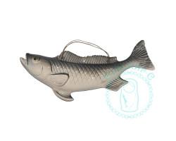Рыба настенная серая фарфор