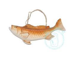 Рыба настенная рыжая фарфор