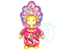 Кукла в кокошнике большая Розовая