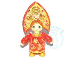 Кукла в кокошнике большая Красная