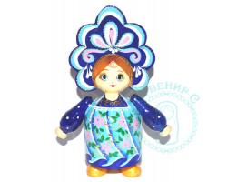 Кукла в кокошнике большая Синяя