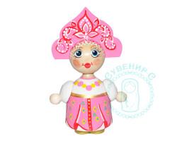 Кукла в кокошнике малая Розовая