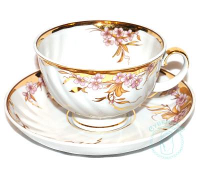 Чайная пара Дулево Голубая роза