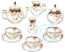 Чайный сервиз Дулево Голубая роза