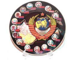 Тарелка Республики ССР Дулево D20