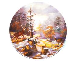 Тарелка Олени зима Дулево D20