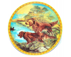 Тарелка Собаки Дулево D20