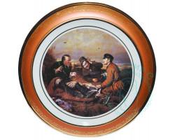 Тарелка Охотники на привале Дулево D30