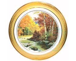 Тарелка Осень Дулево D30