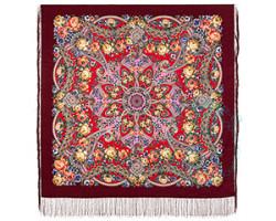 Платок шерстяной Девица-краса 1869-6
