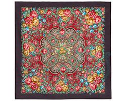 Платок шерстяной Цветочная нимфа 1831-15